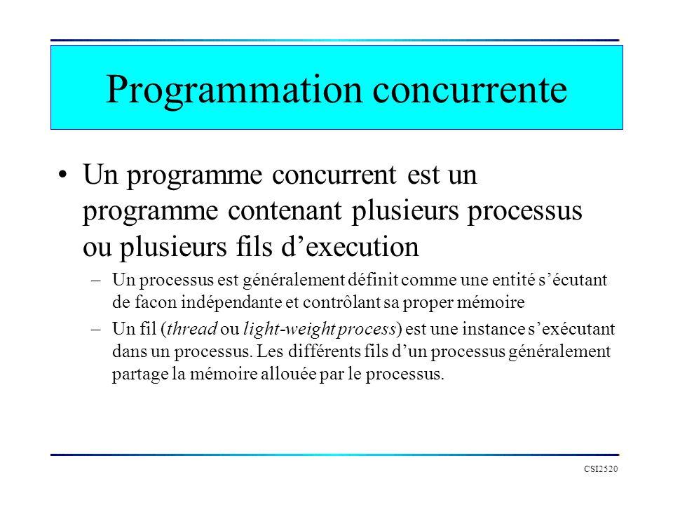 Programmation concurrente