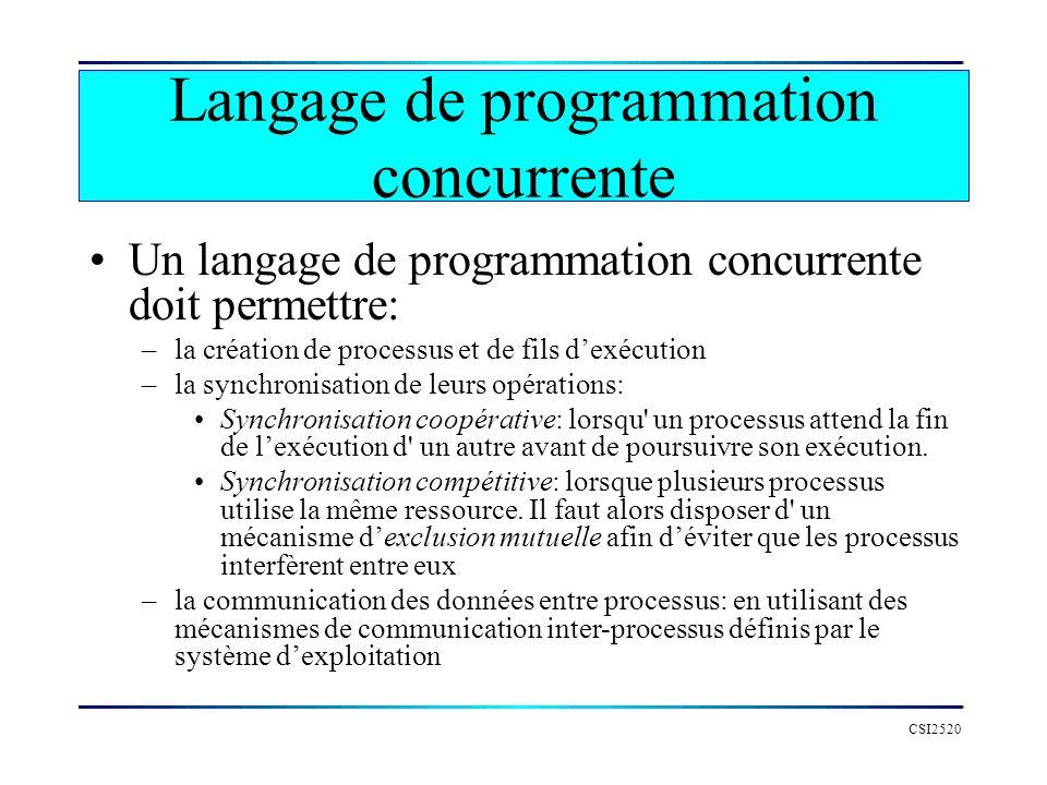 Langage de programmation concurrente