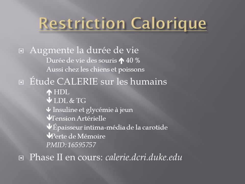 Restriction Calorique