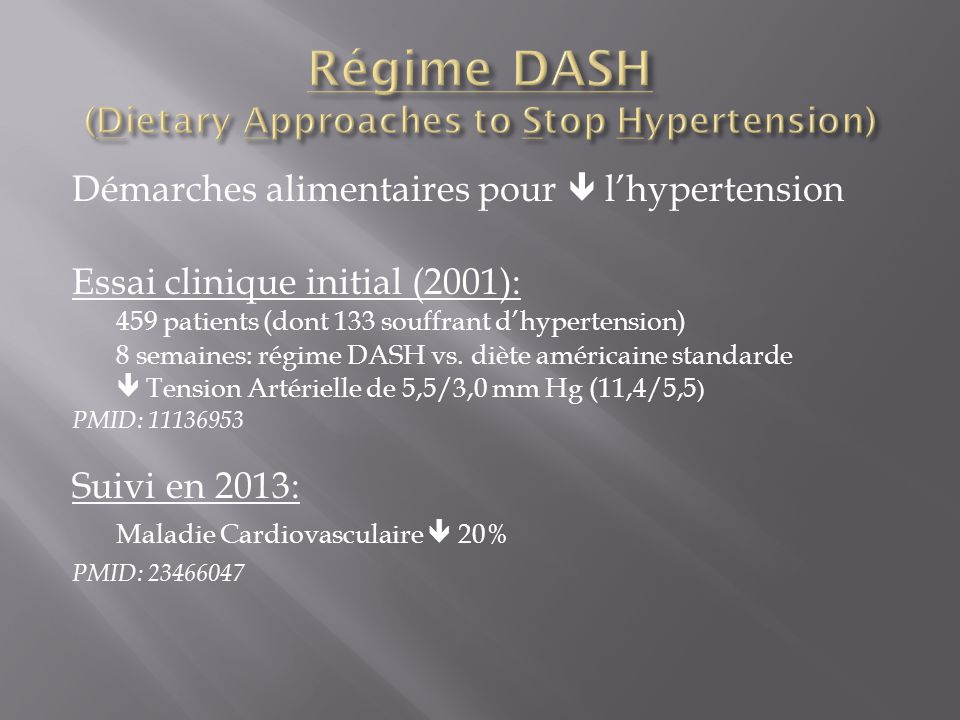 Régime DASH (Dietary Approaches to Stop Hypertension)