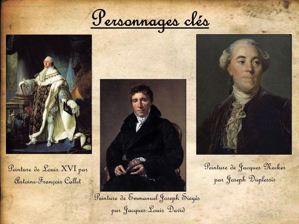 Personnages clés Peinture de Jacques Necker par Joseph Duplessis