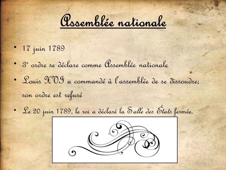 Assemblée nationale 17 juin 1789
