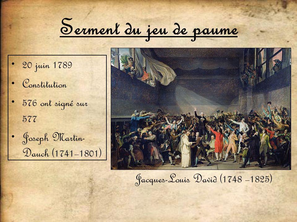 Serment du jeu de paume 20 juin 1789 Constitution