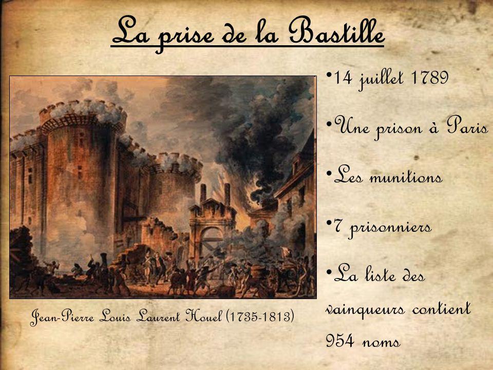 La prise de la Bastille 14 juillet 1789 Une prison à Paris