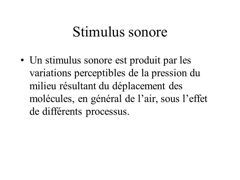 Stimulus sonore