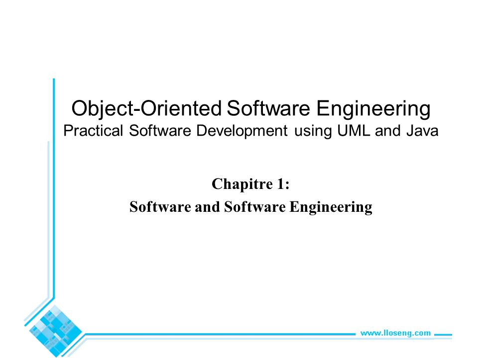 Chapitre 1: Software and Software Engineering