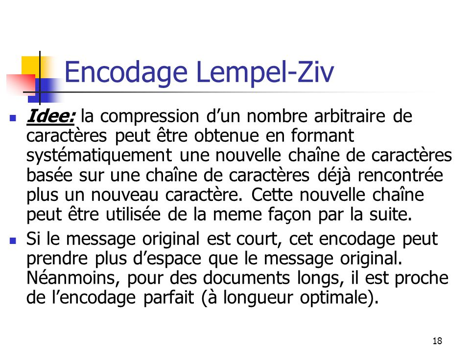 Encodage Lempel-Ziv