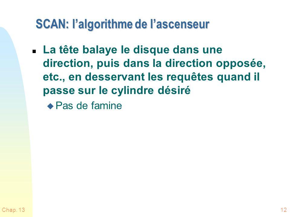 SCAN: l'algorithme de l'ascenseur