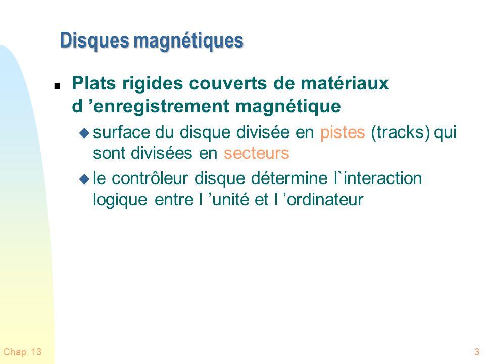 Disques magnétiques Plats rigides couverts de matériaux d 'enregistrement magnétique.