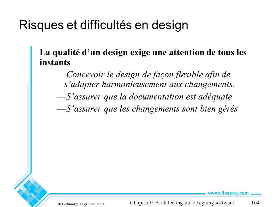Risques et difficultés en design