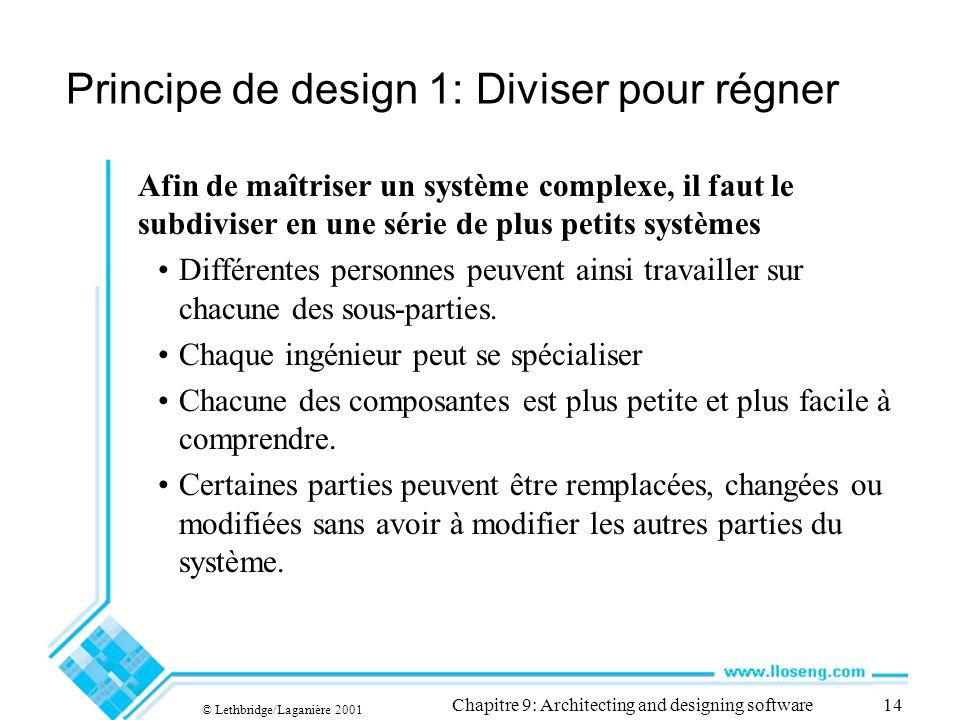 Principe de design 1: Diviser pour régner