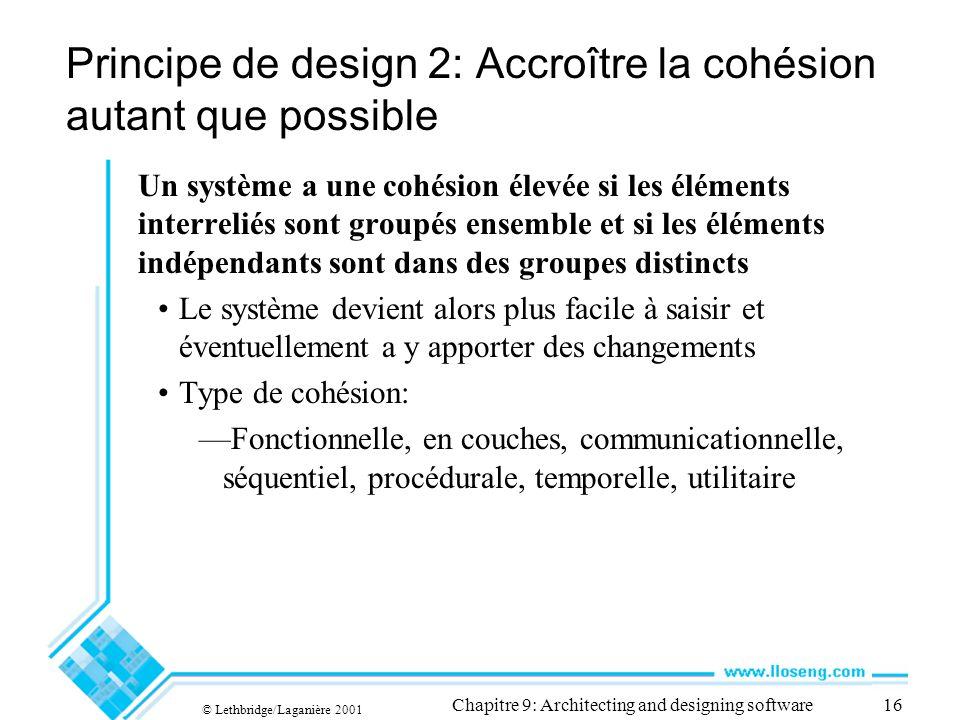 Principe de design 2: Accroître la cohésion autant que possible