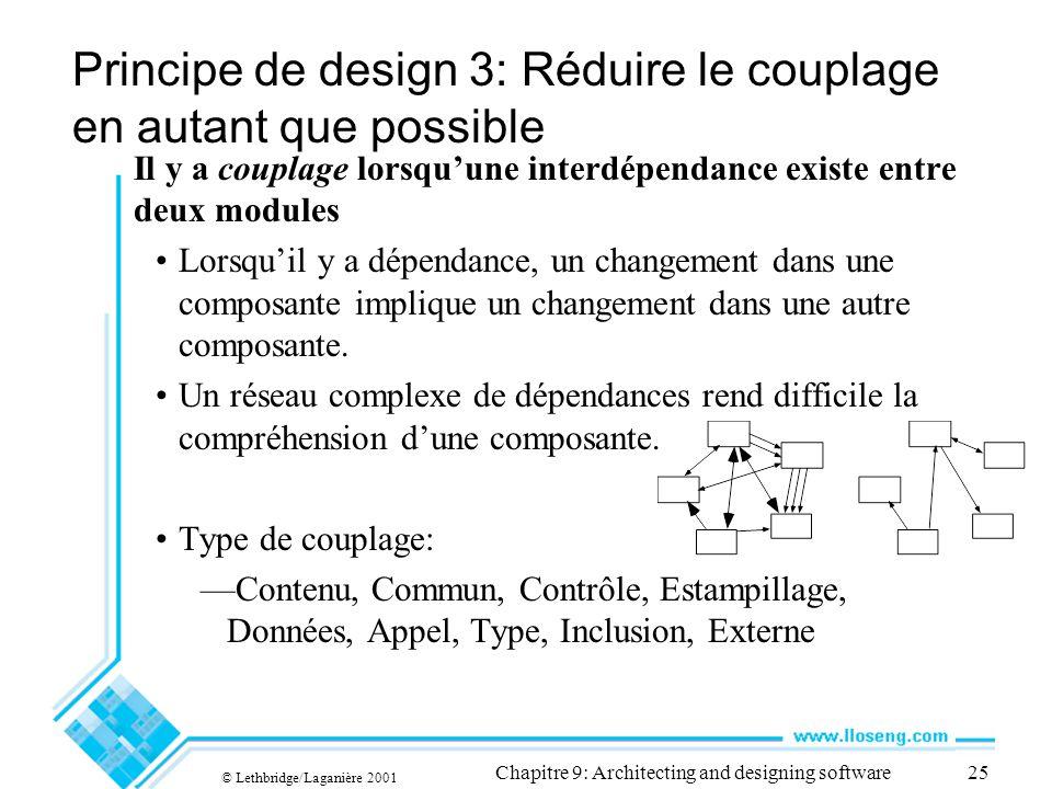 Principe de design 3: Réduire le couplage en autant que possible