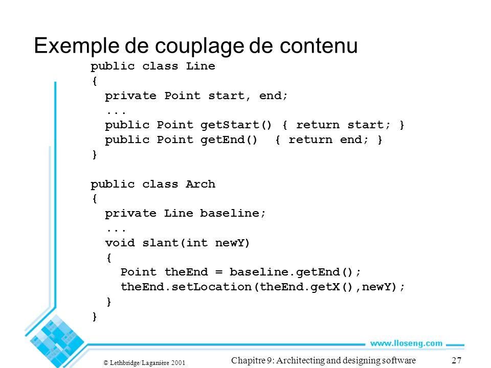 Exemple de couplage de contenu