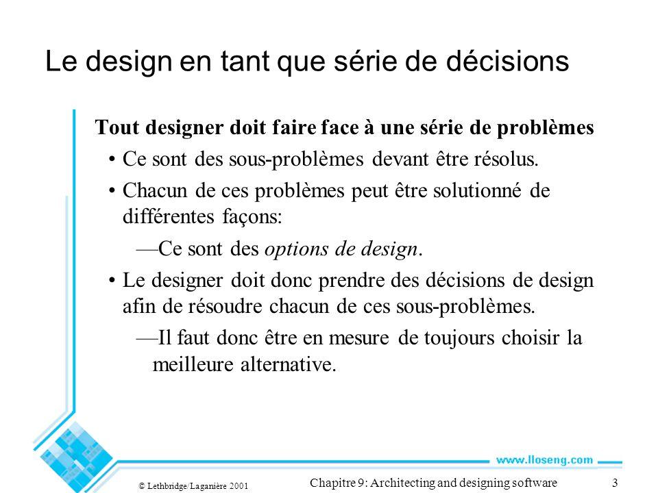 Le design en tant que série de décisions