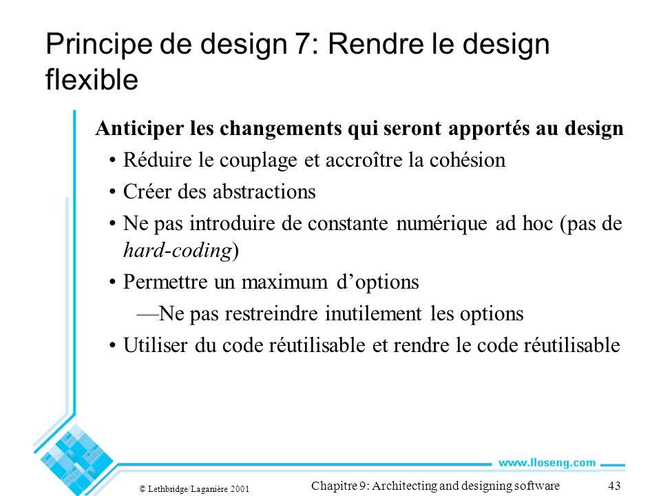Principe de design 7: Rendre le design flexible