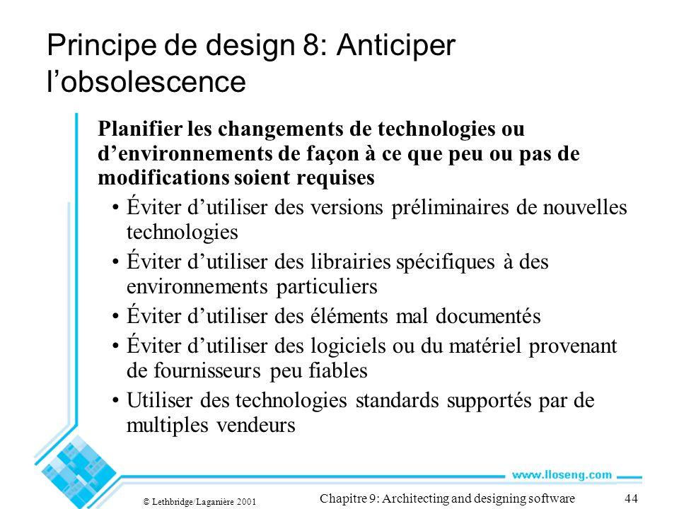 Principe de design 8: Anticiper l'obsolescence