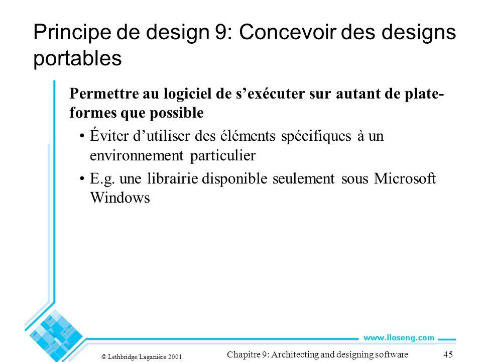 Principe de design 9: Concevoir des designs portables