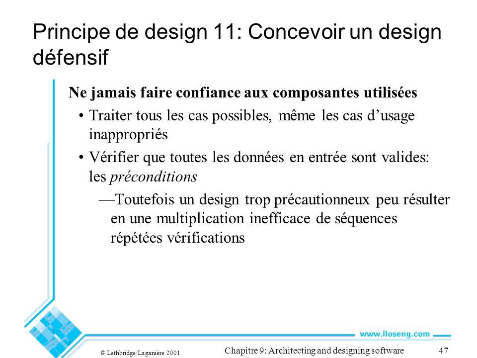 Principe de design 11: Concevoir un design défensif