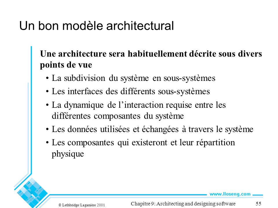 Un bon modèle architectural