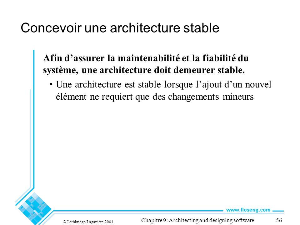 Concevoir une architecture stable