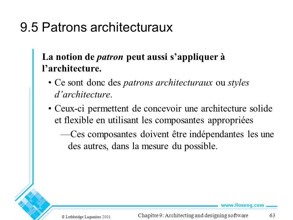 9.5 Patrons architecturaux