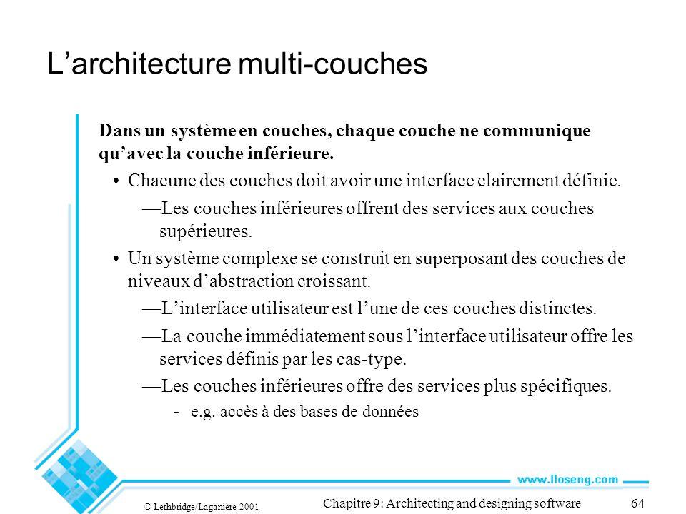 L'architecture multi-couches
