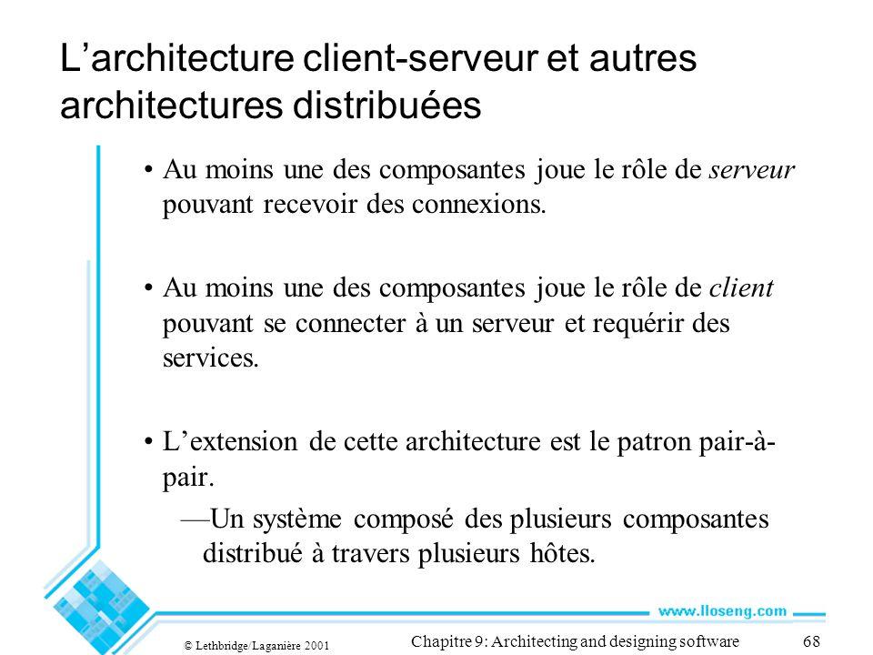 L'architecture client-serveur et autres architectures distribuées
