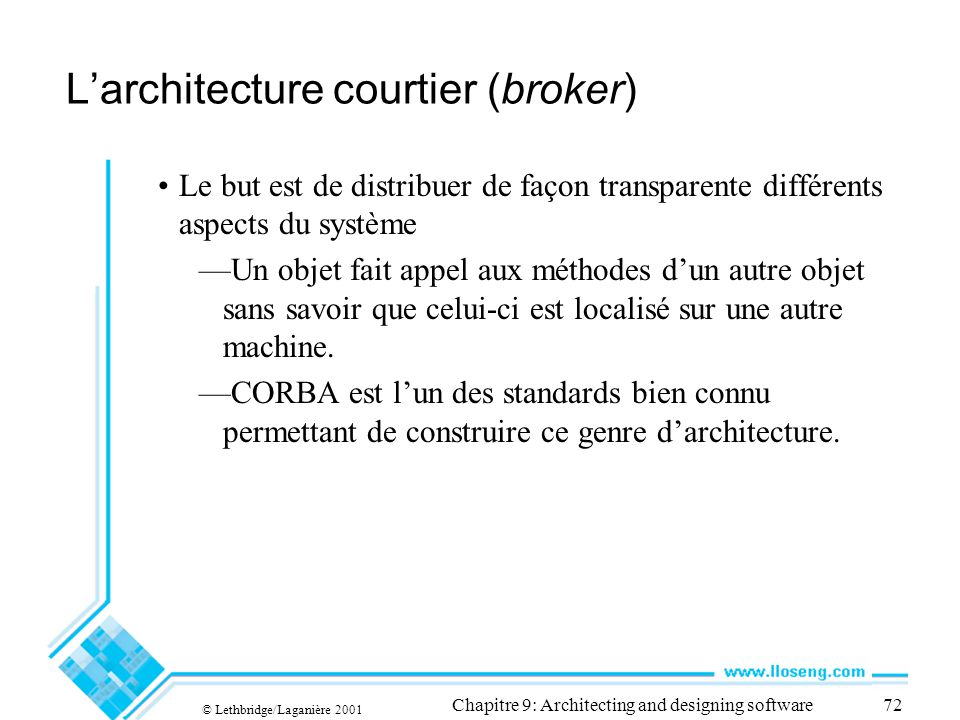 L'architecture courtier (broker)