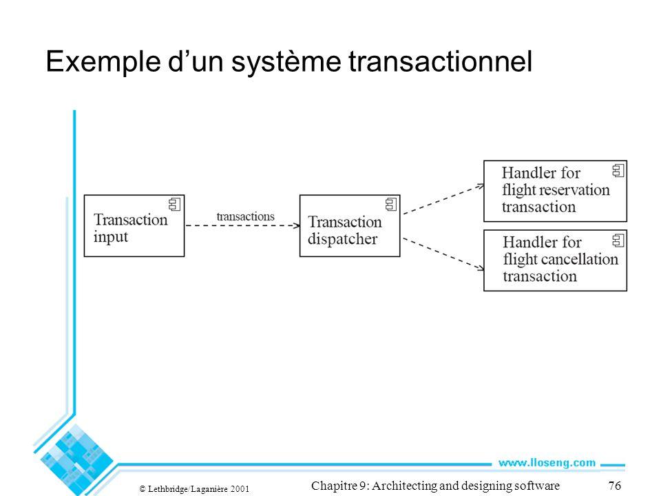 Exemple d'un système transactionnel