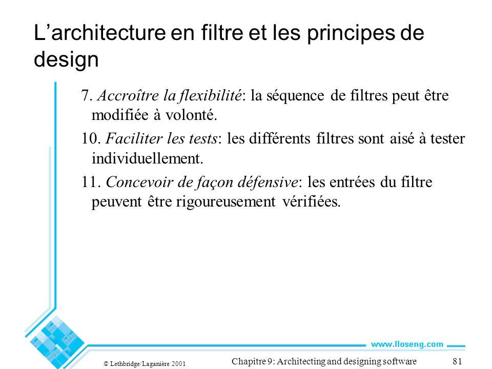 L'architecture en filtre et les principes de design