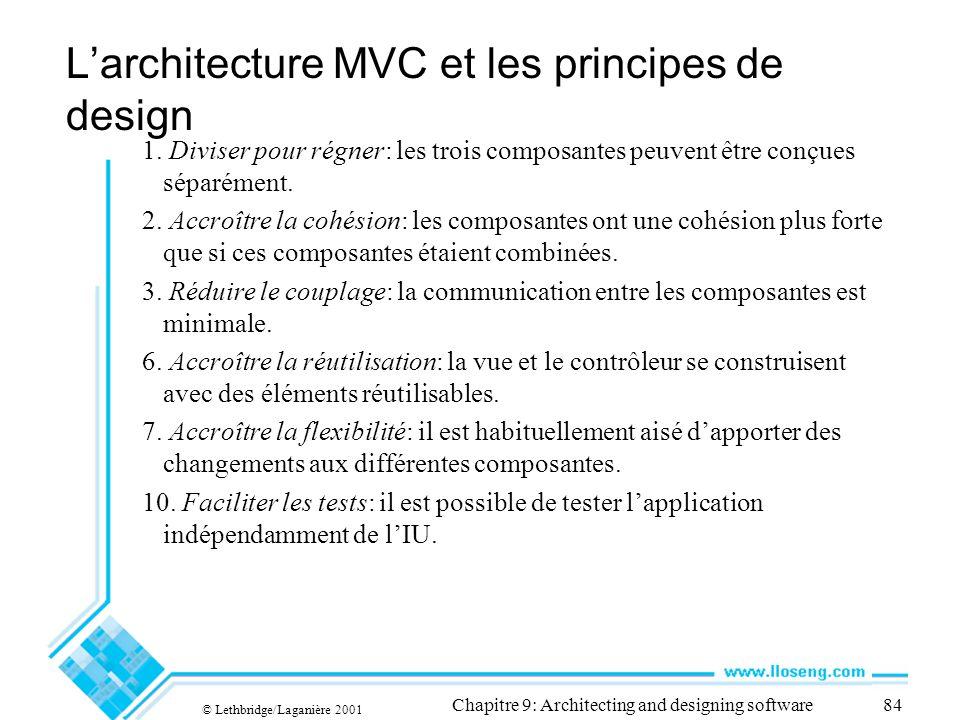 L'architecture MVC et les principes de design