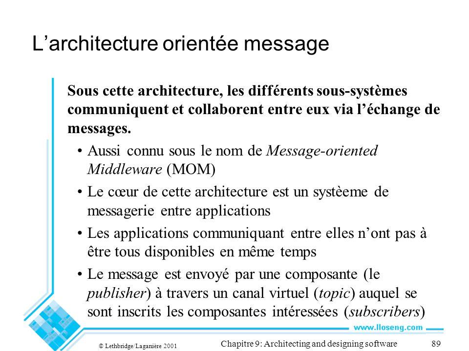 L'architecture orientée message