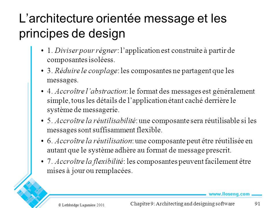 L'architecture orientée message et les principes de design