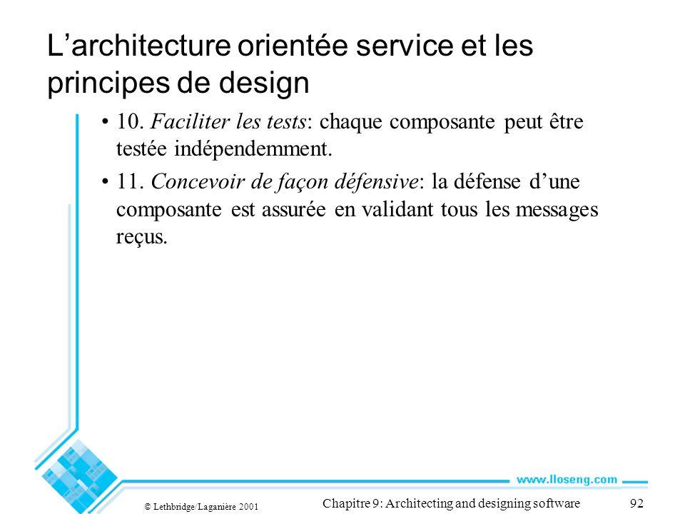 L'architecture orientée service et les principes de design