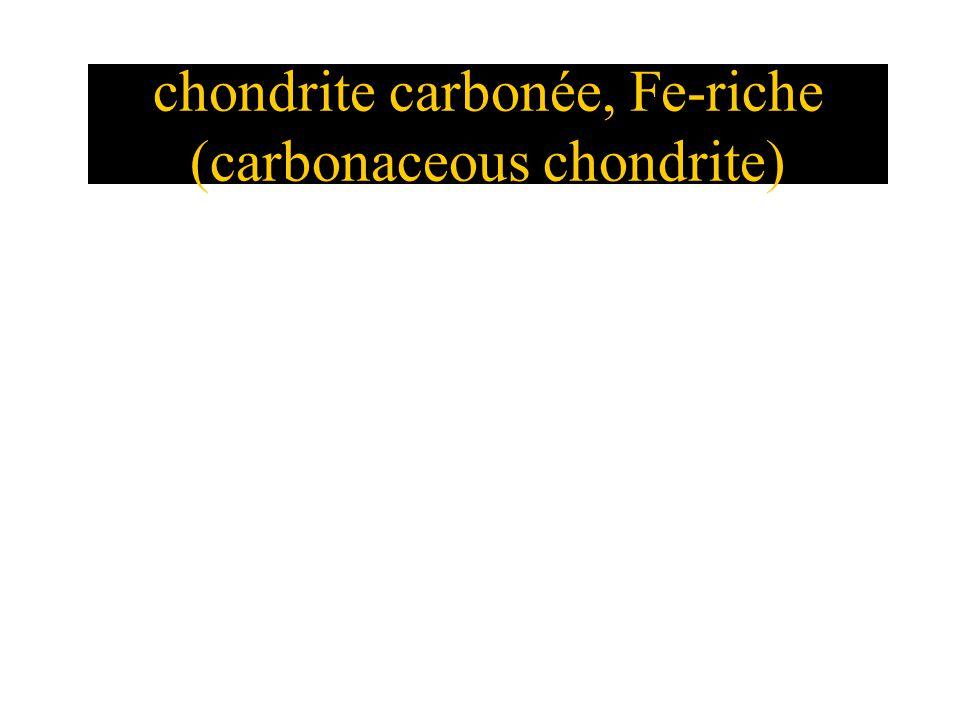 chondrite carbonée, Fe-riche (carbonaceous chondrite)