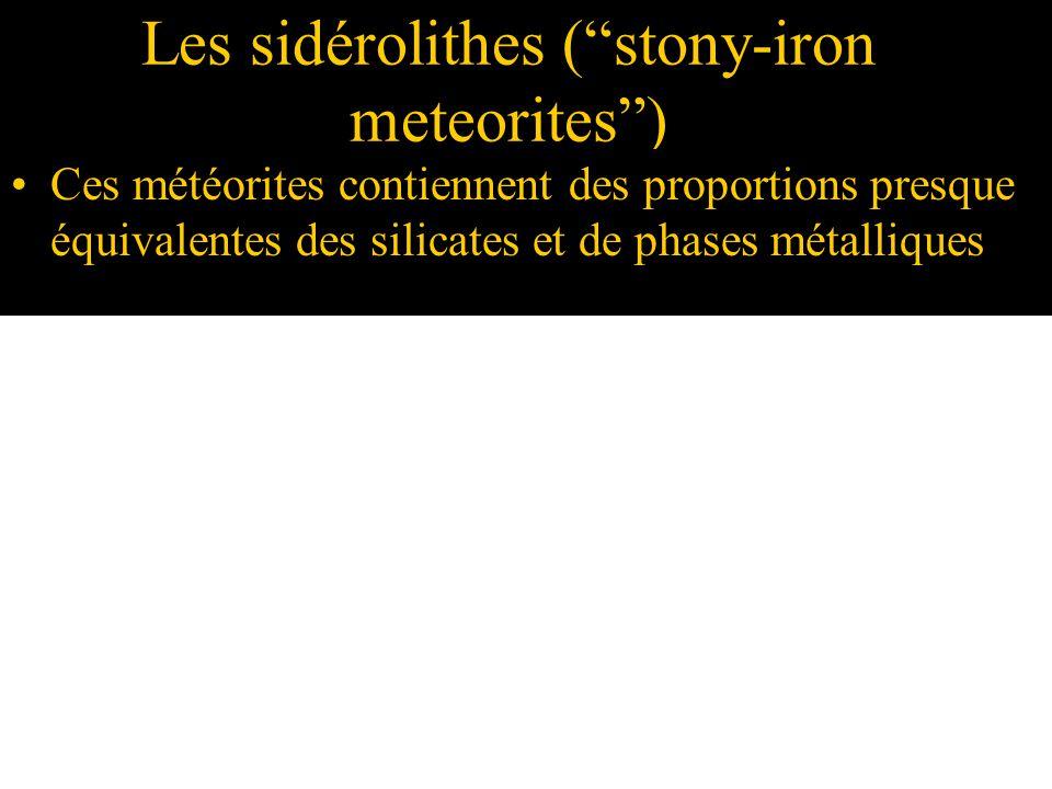 Les sidérolithes ( stony-iron meteorites )