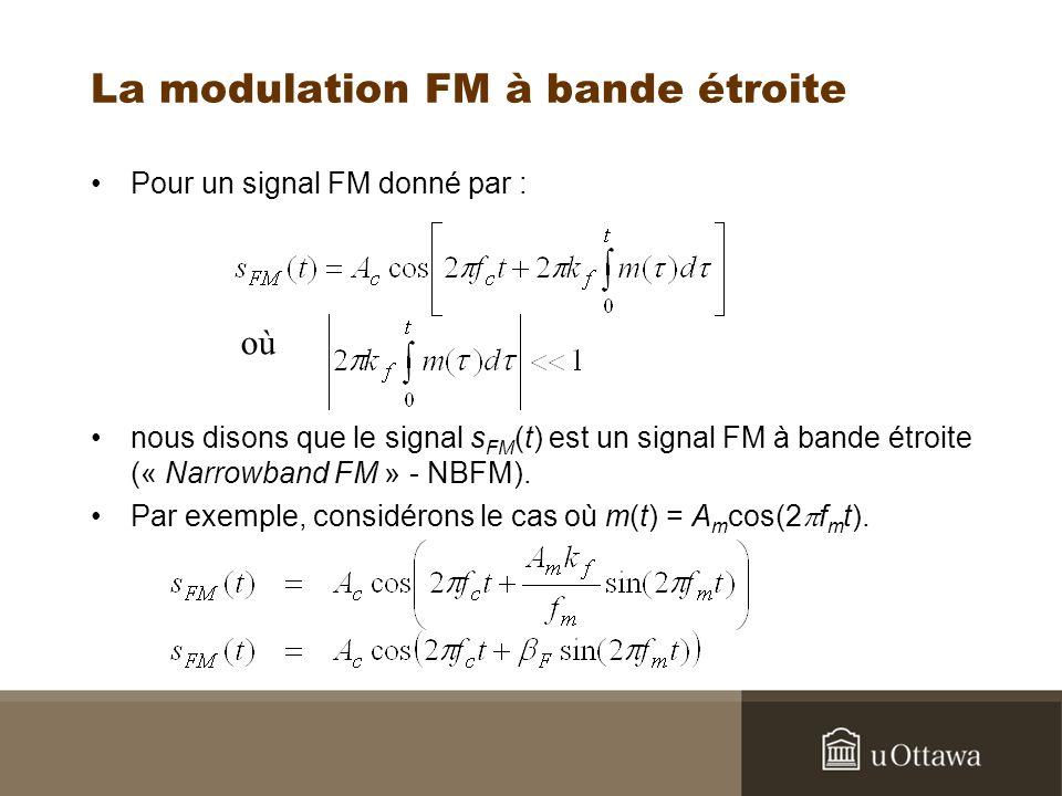 La modulation FM à bande étroite