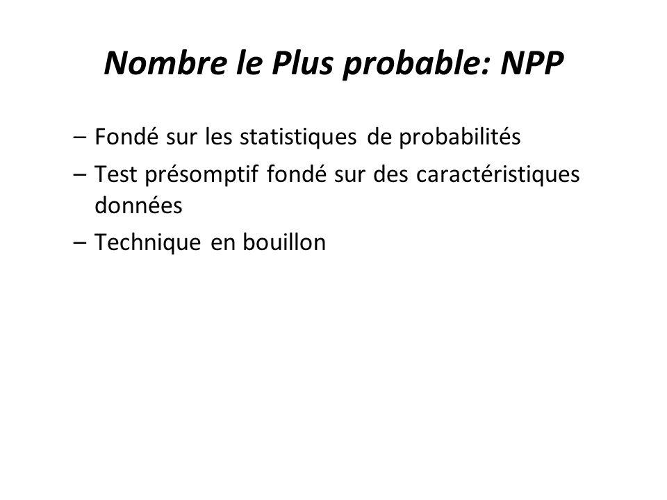 Nombre le Plus probable: NPP