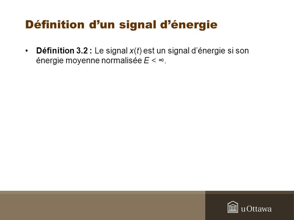 Définition d'un signal d'énergie