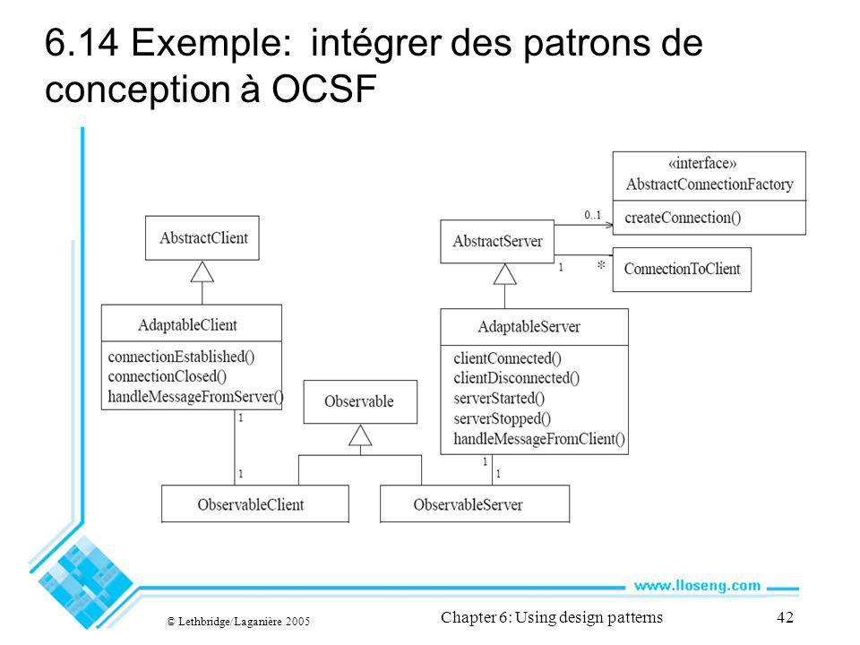 6.14 Exemple: intégrer des patrons de conception à OCSF