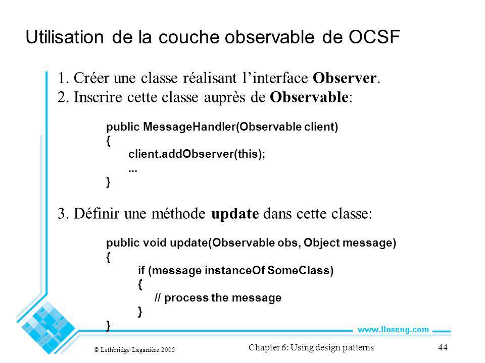Utilisation de la couche observable de OCSF