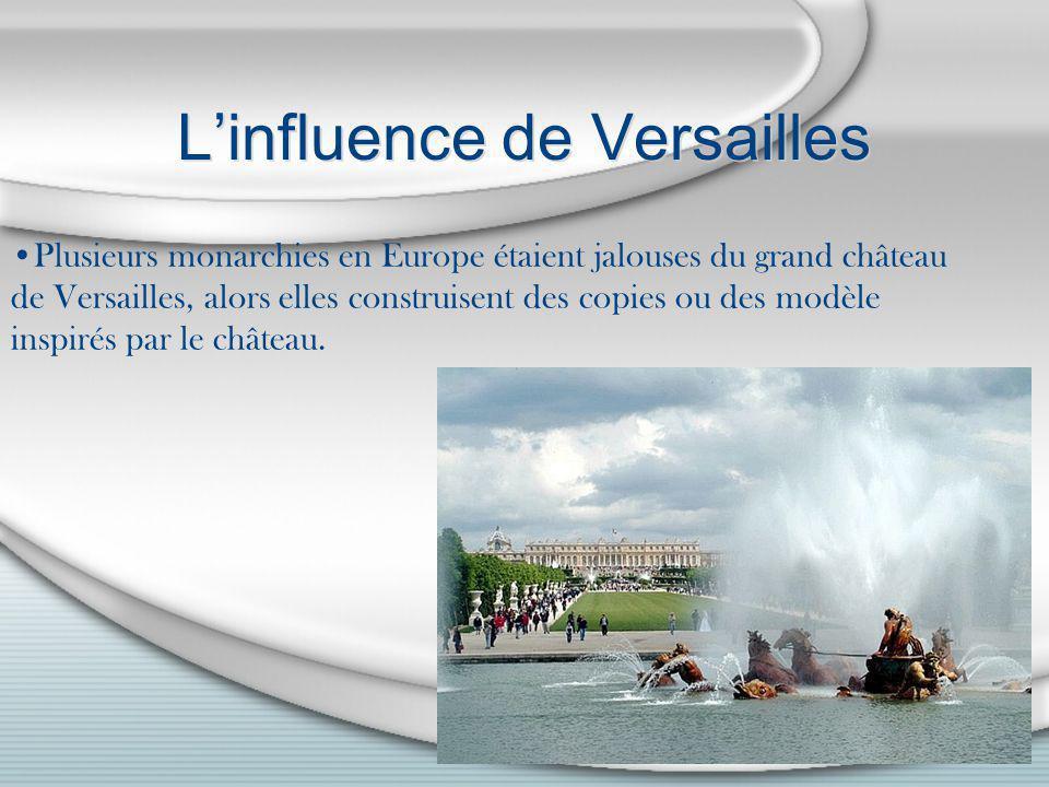 L'influence de Versailles
