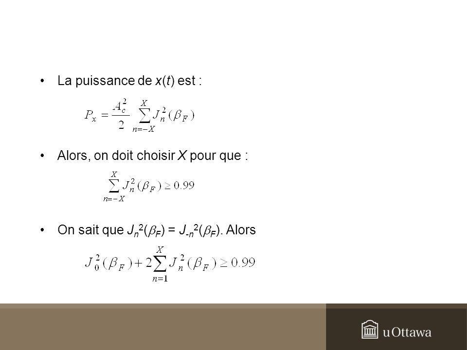 La puissance de x(t) est :