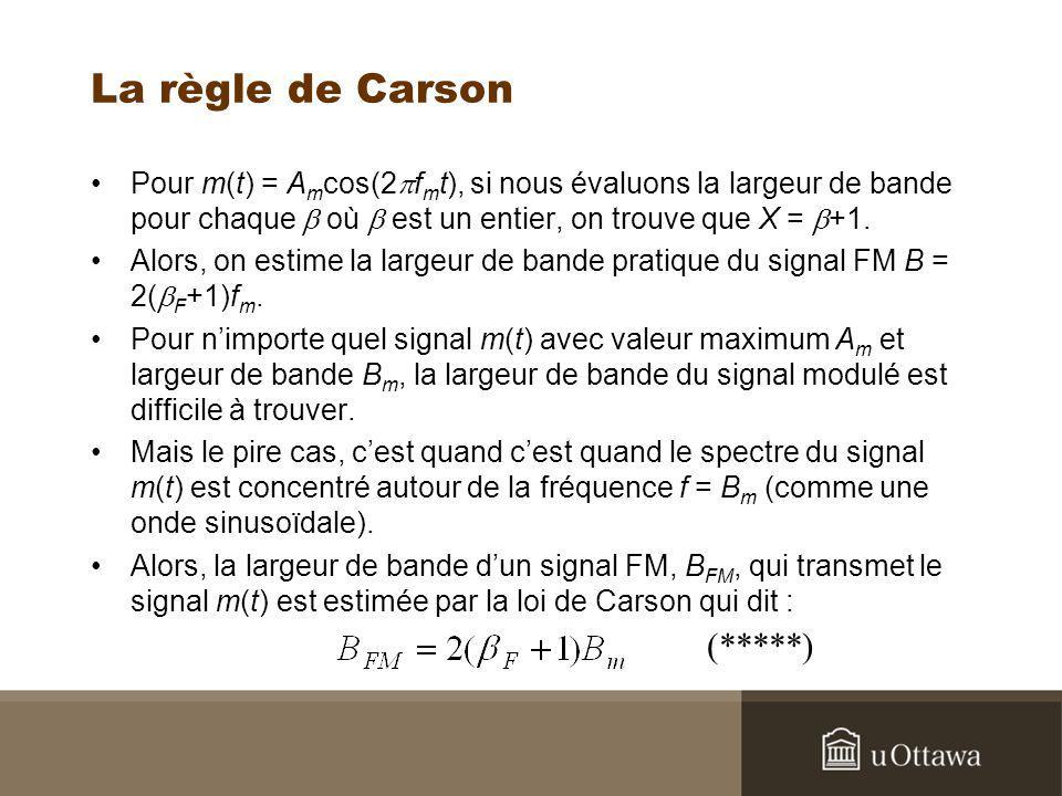 La règle de Carson (*****)
