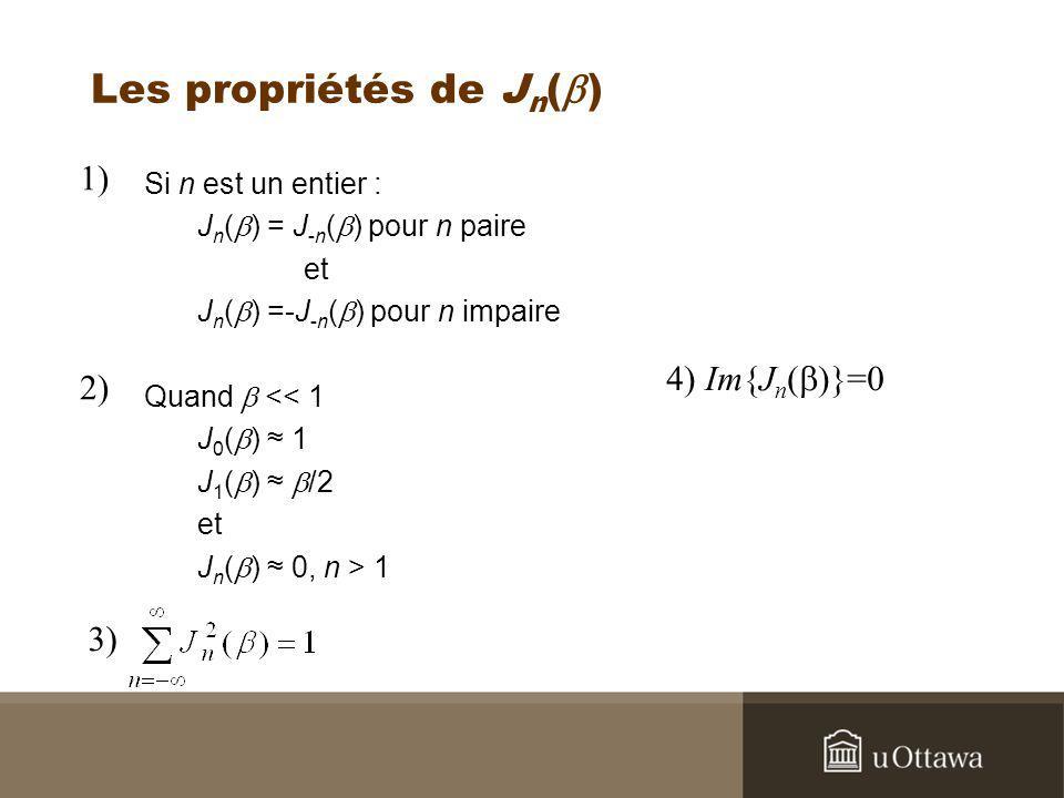 Les propriétés de Jn(b)