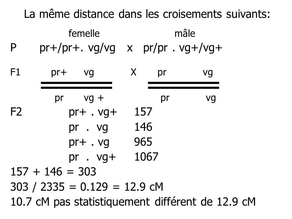 La même distance dans les croisements suivants: