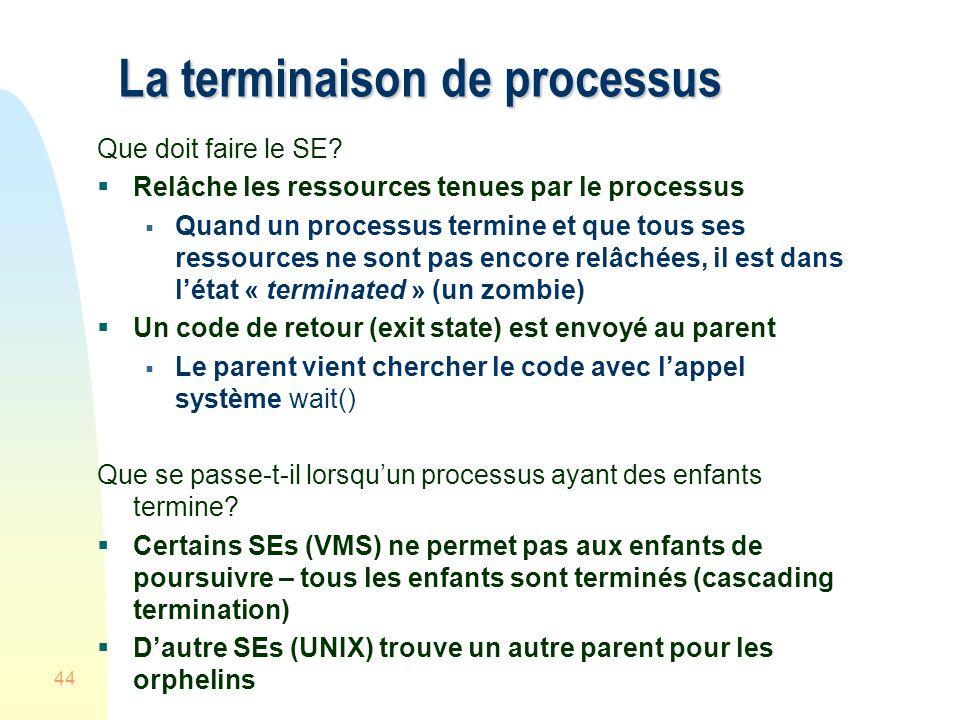 La terminaison de processus