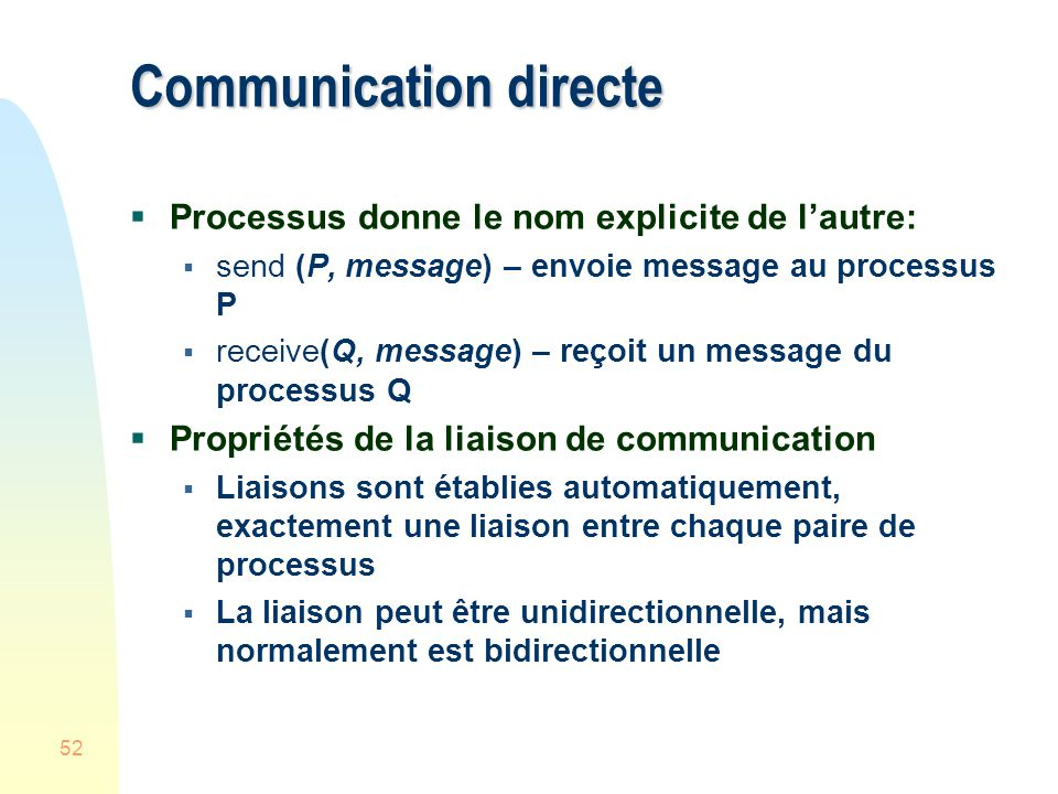 Communication directe