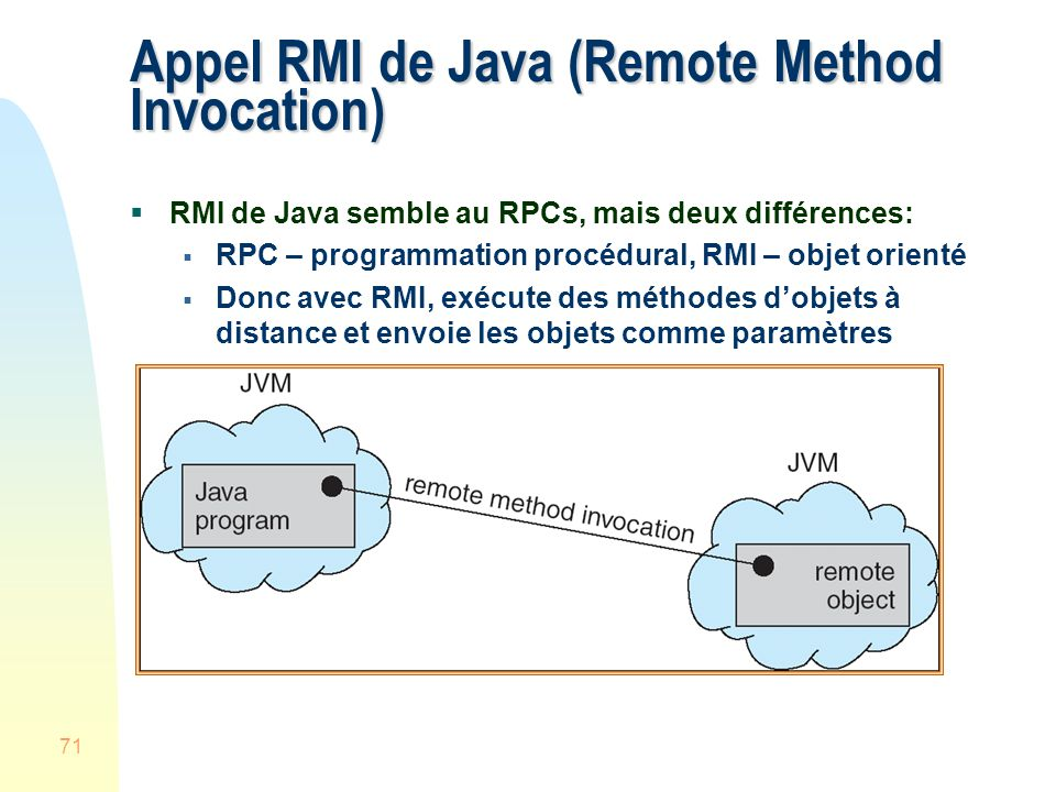 Appel RMI de Java (Remote Method Invocation)